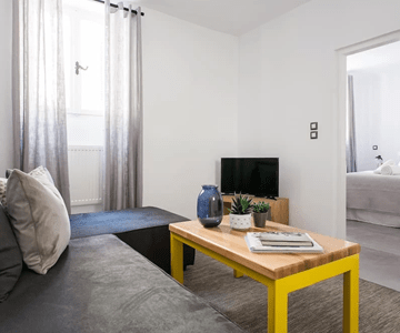Apartment A1 woonkamer