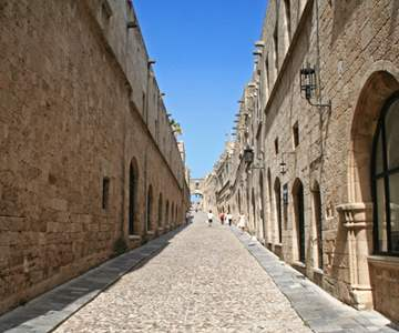 Greece Rhodos Island Old Rhodos Town Street Of The Knights Now Embassy Street